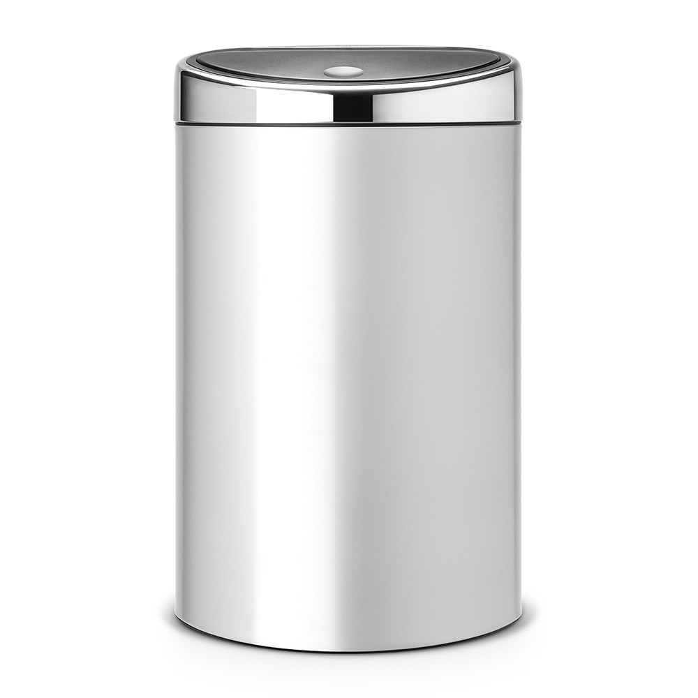 poubelle ovale touch bin 40 litres 40 litres metallic grey brabantia. Black Bedroom Furniture Sets. Home Design Ideas