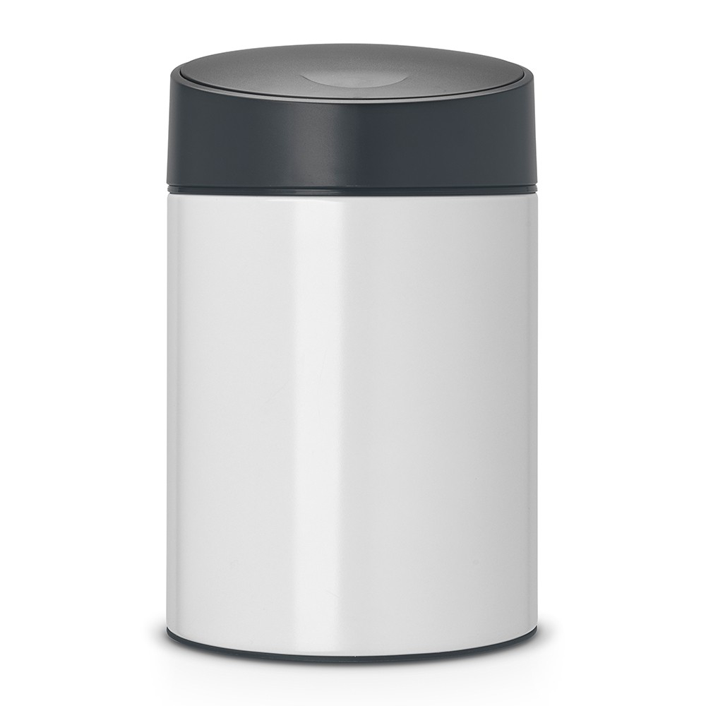 poubelle slide bin 5 litres avec couvercle en plastique blanc brabantia. Black Bedroom Furniture Sets. Home Design Ideas