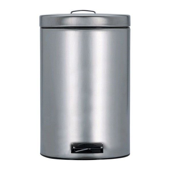 poubelle pedal bin silent 12 litres matt steel brabantia. Black Bedroom Furniture Sets. Home Design Ideas