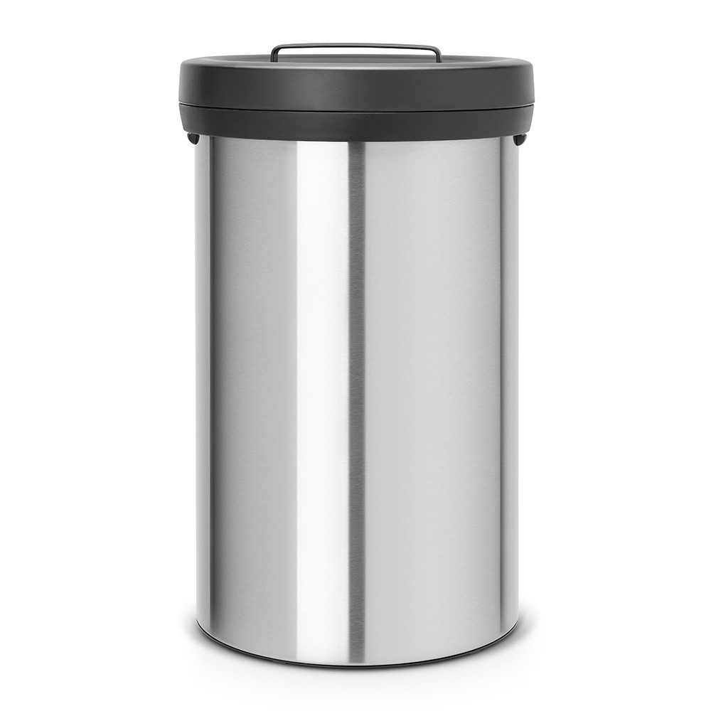 poubelle big bin 60 litres matt steel brabantia. Black Bedroom Furniture Sets. Home Design Ideas