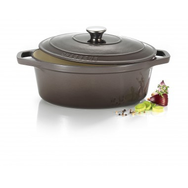 Cocotte ovale le chasseur litres taupe invicta for Art and cuisine cocotte