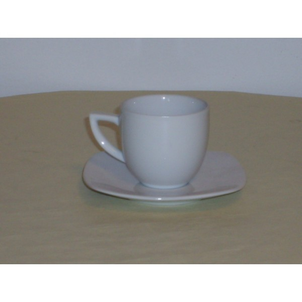 lot de 6 paires tasse caf tokyo tokyo 10 cl porcelaine blanche. Black Bedroom Furniture Sets. Home Design Ideas