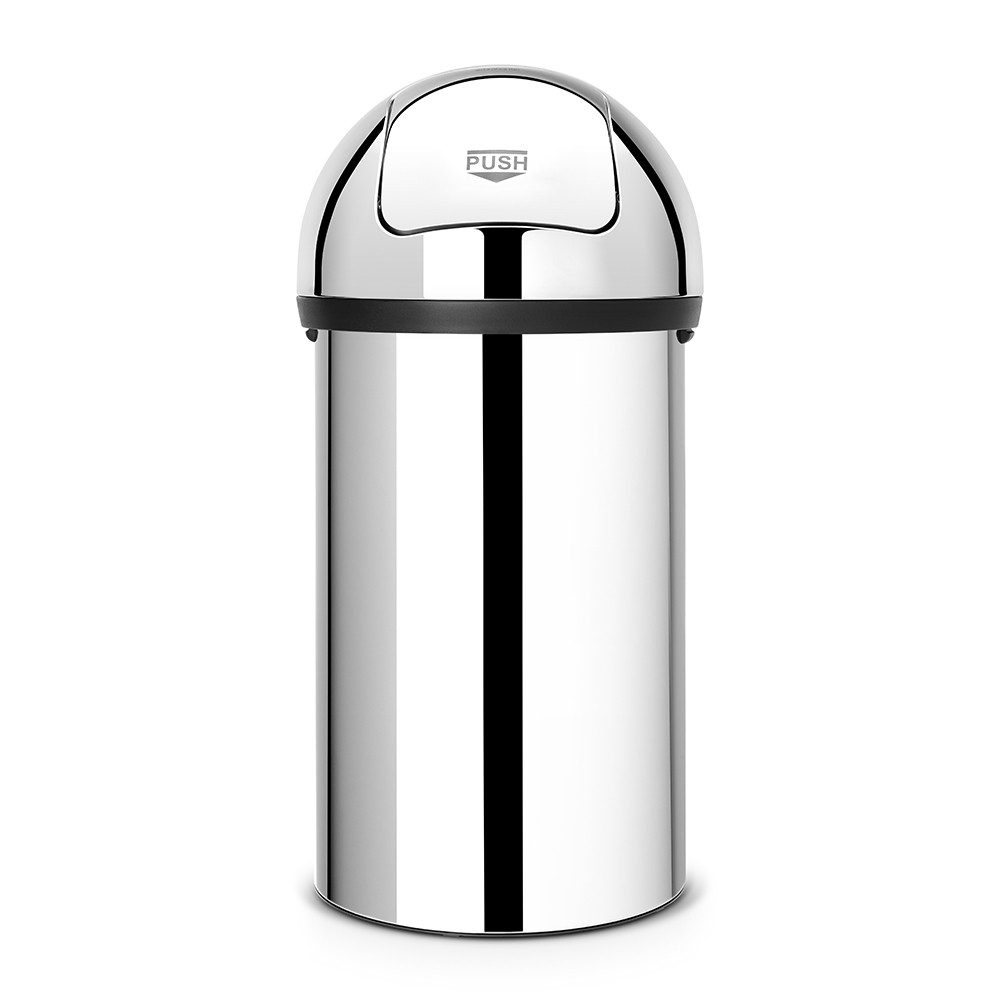 poubelle push bin 60 litres push bin matt steel brabantia. Black Bedroom Furniture Sets. Home Design Ideas