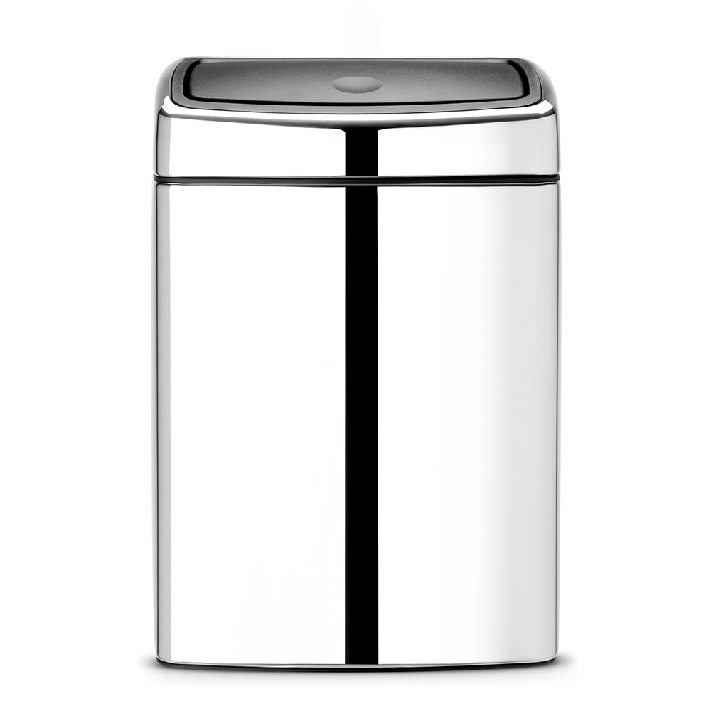 poubelle rectangulaire 10 litres touch bin touch bin brillant steel brabantia. Black Bedroom Furniture Sets. Home Design Ideas