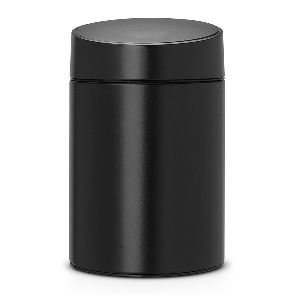 poubelle slide bin 5 litres avec couvercle en plastique noir brabantia. Black Bedroom Furniture Sets. Home Design Ideas