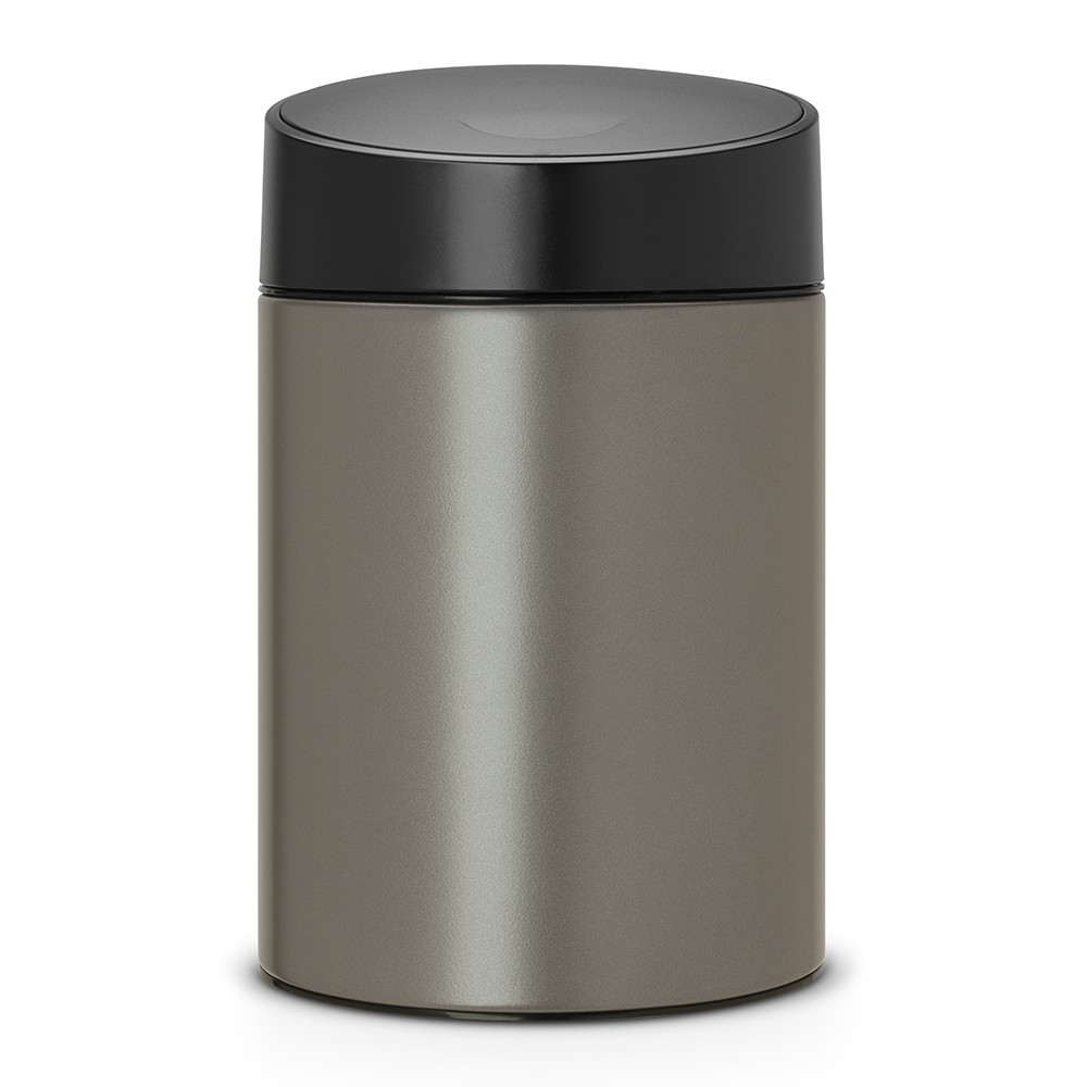poubelle slide bin 5 litres avec couvercle en plastique platinium brabantia. Black Bedroom Furniture Sets. Home Design Ideas