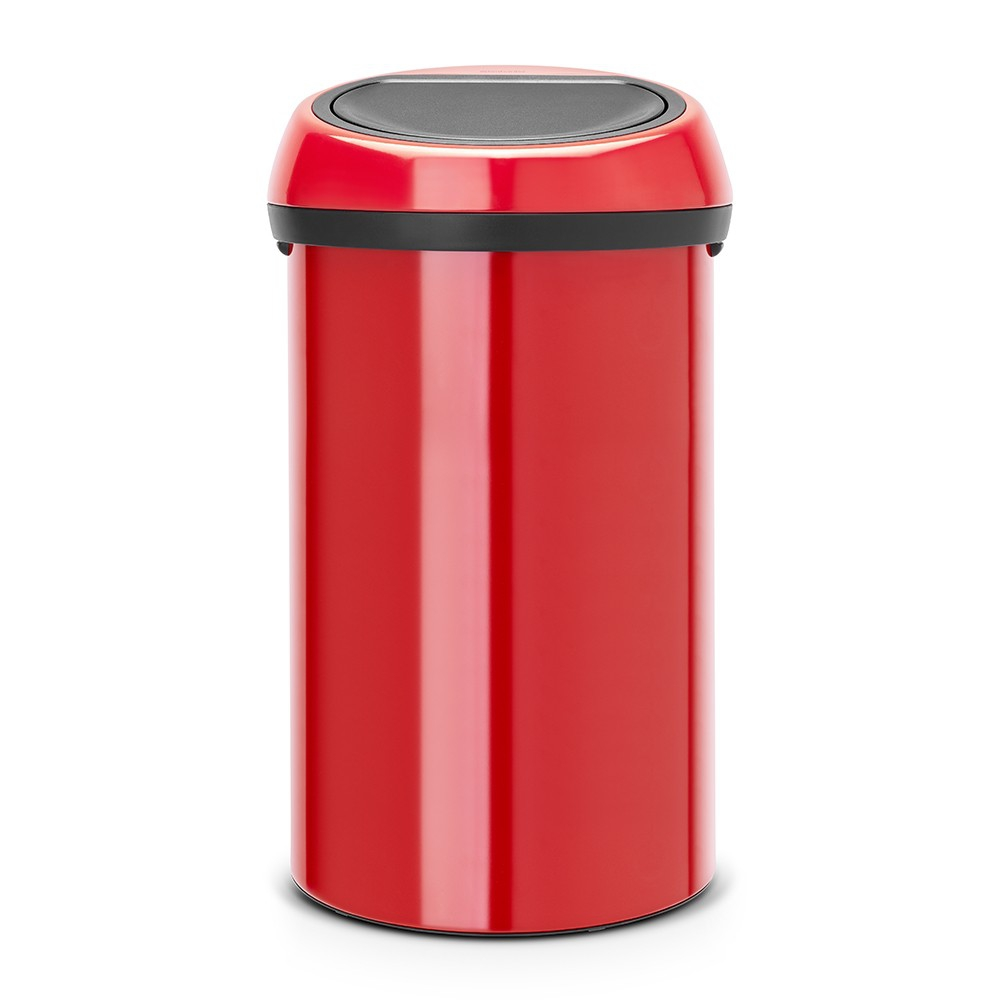 poubelle touch bin 60 litres touch bin rouge brabantia. Black Bedroom Furniture Sets. Home Design Ideas