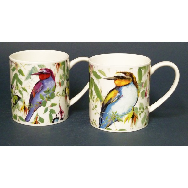 lot de 6 mugs buddy tropical birds just mugs. Black Bedroom Furniture Sets. Home Design Ideas
