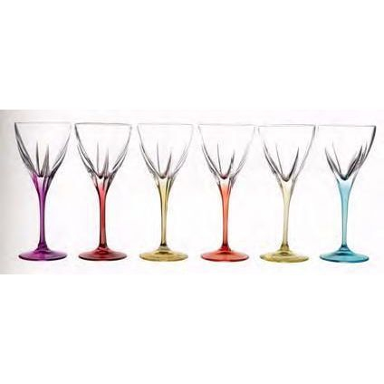 Lot de 6 verres à eau Fusion Color
