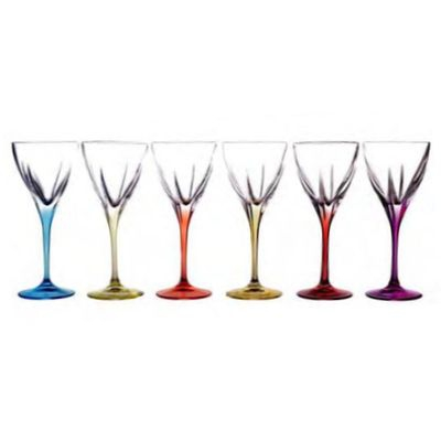 Lot de 6 verres à vin Fusion Color