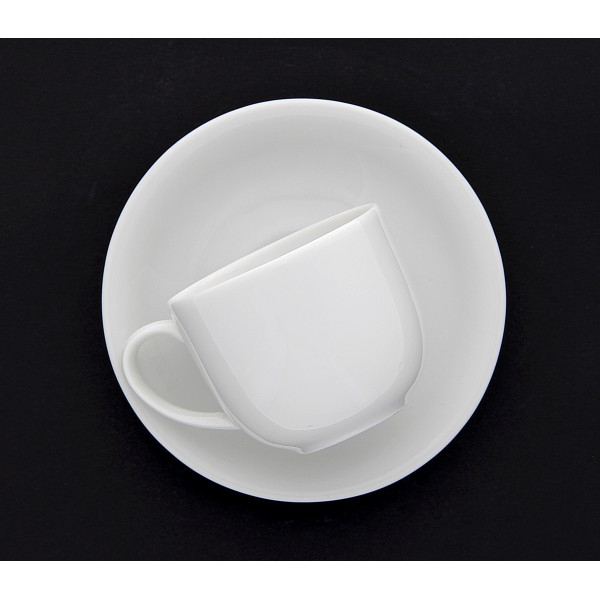 lot de 6 paires tasse caf boule nora nora 11 cl blanc porcelaine blanche. Black Bedroom Furniture Sets. Home Design Ideas