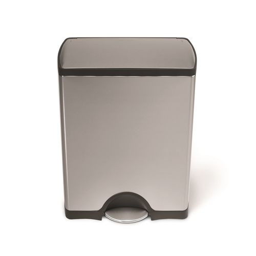 poubelle rectangulaire p dale 50 litres inox simplehuman. Black Bedroom Furniture Sets. Home Design Ideas
