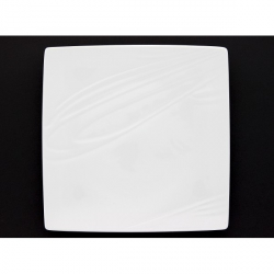 Lot de 6 assiettes plates Kensai carrée