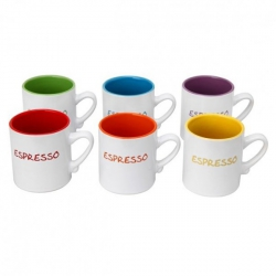 Set de 6 tasses espresso colours