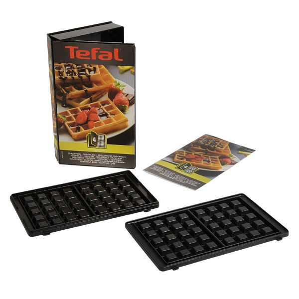 coffret plaques 2 gaufres snack collection tefal. Black Bedroom Furniture Sets. Home Design Ideas