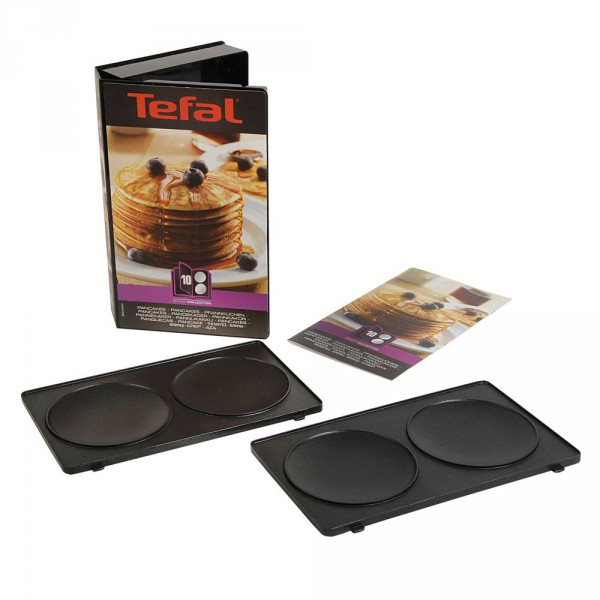 Coffret plaques 2 pancakes snack collection tefal - Gaufrier tefal snack collection ...