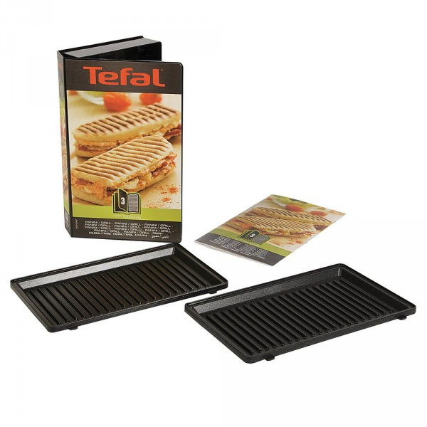 Coffret plaques grill panini snack collection tefal - Plaque tefal snack collection ...