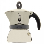 Cafetière moka induction - BIALETTI - 3 tasses - BLANC CASSE