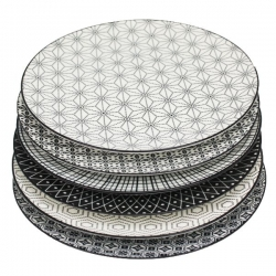 Lot de 6 assiettes plates KOMAE