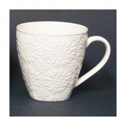 Lot de 6 Mug Chrysanthem blanc