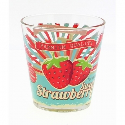 Lot de 6 chopes bio strawberry