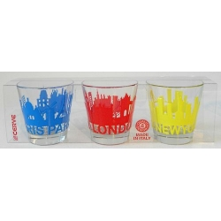 Lot de 6 verres Skylines cities