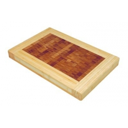 Billot de table rectangulaire bicolore