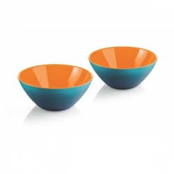 Lot de 2 coupelles My Fusion bleu/orange