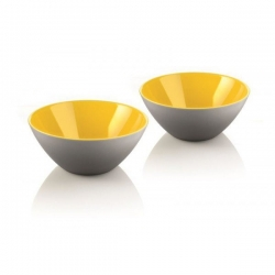 Lot de 2 coupelles My Fusion gris/jaune