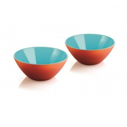 Lot de 2 coupelles My Fusion orange/bleu