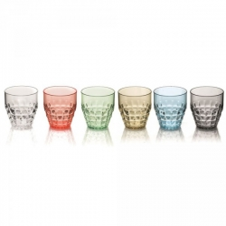 Lot de 6 verres Tiffany