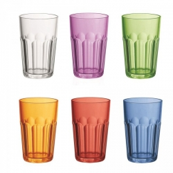 Set de 6 verres multicolores