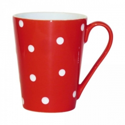 Lot de 6 mugs à pois blanc