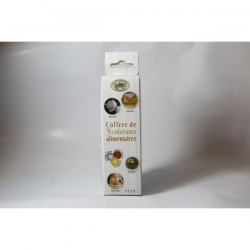 Lot de 3 colorants alimentaires