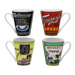 Coffret de 4 mugs Pop coffee