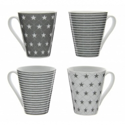 Coffret de 4 mugs Star & stripe