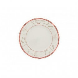 Lot de 6 assiettes plates 'bistrot'