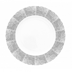 Lot de 6 assiettes plates Ecorce