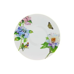 Lot de 6 assiettes plates Hortensia