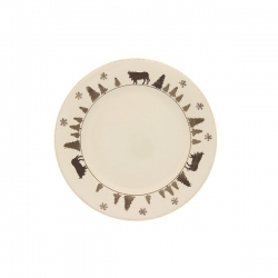 Lot de 6 assiettes plates vache