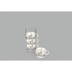 Set de 4 tasses avec support Kidcat