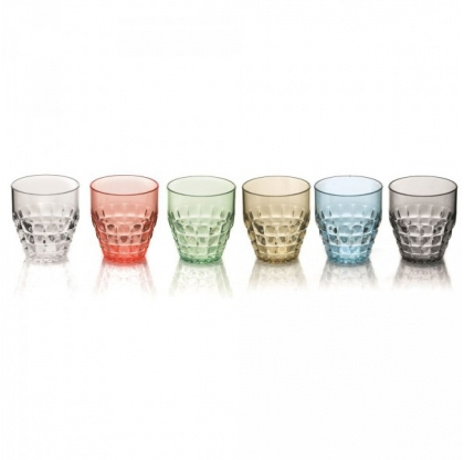 Lot de 6 verres Tiffany - GUZZINI - 0,35 l - Multicolore