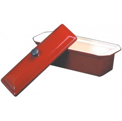 Terrine rectangulaire + couvercle - INVICTA - 1 litre - ROUGE