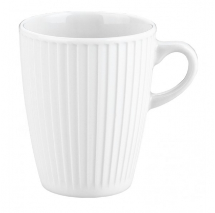 Lot de 6 mugs plissé  - PILLIVUYT - 27 cl