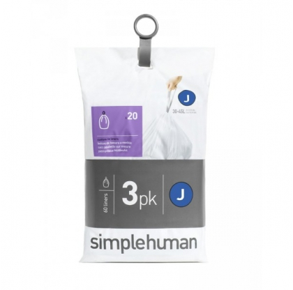 Lot de 3 packs de 20 sacs poubelle 30-45 L - SIMPLEHUMAN