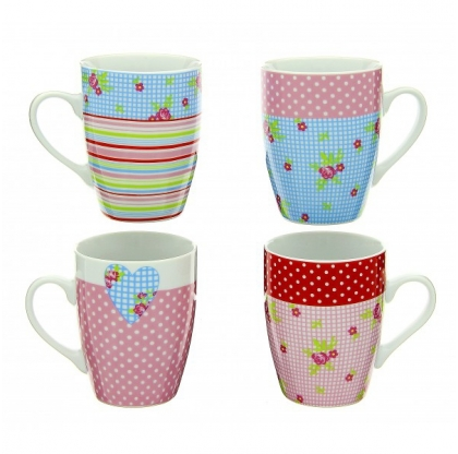 Set de 4 mugs Liberty - TABLE AND COOK - Multicolore