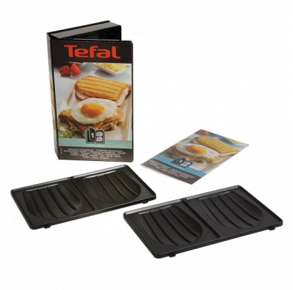 Coffret plaques 2 croque monsieur snack collection tefal - Gaufrier tefal snack collection ...